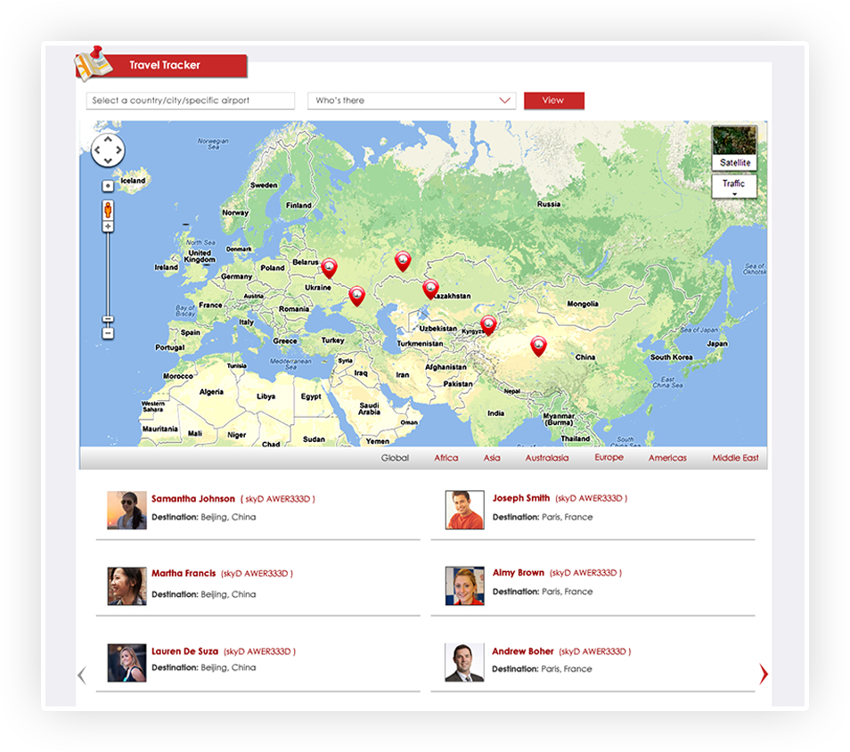 Travel And Expense Management Software Travel Tracking Skyjunxion - Travel mapping software